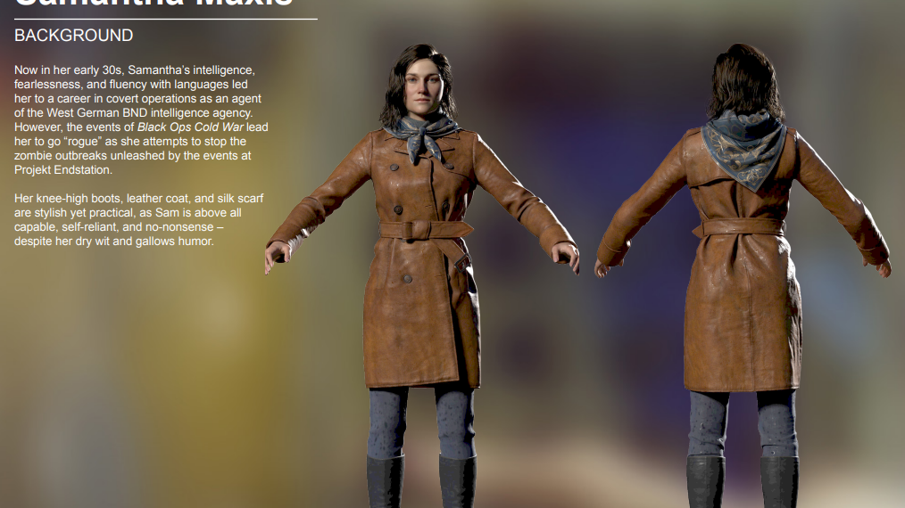 Black Ops Cold War Zombies Samantha Maxis